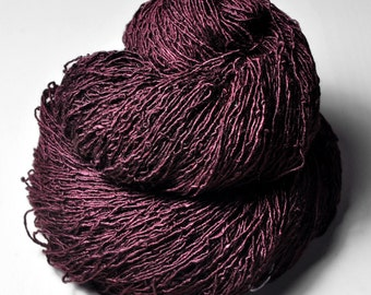 Blood velvet OOAK - Tussah Silk Fingering Yarn
