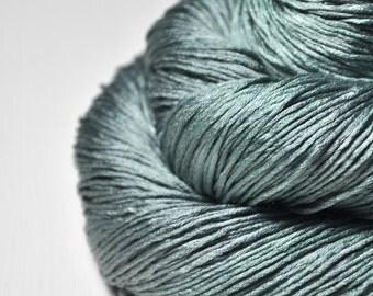 Rain in a graveyard - Silk Fingering Yarn - Knotty skein