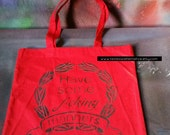 Have some f*cking manners tote bag stencil and spray paint art by Rainbow Alternative on Etsy