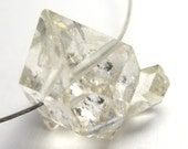 Herkimer Diamond Bead AAA Quality Bright Super Clear Double Terminated Translucent Metaphysical Healing Chakra Meditate Herkimer New York