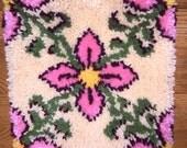 Vintage Latchhook Pillow Top
