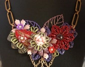 Breath of Spring Statement Necklace