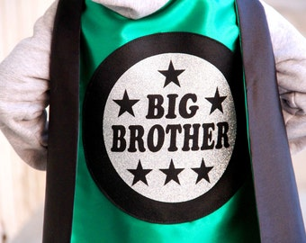 NEW - SHIPS FAST - Big Brother Superhero Cape - Sibling gift - big brother gift - new baby - Ships Fast