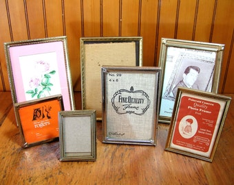 Vintage Brass Picture Frames, Instant Collection, Photo Frames