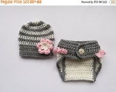 PROMO 10% PROMO Baby Girl Crochet Outfit _ Baby Girl Coming Home Outfit _ Baby Boy Crochet Outfit _ NewBorn Baby Photo Prop Outfit