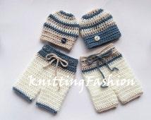 Baby Boy Twin Outfits _ NewBorn Baby Twins Outfit _ Newborn Crochet Baby Outfit _ Baby Twins Hospital Outfits_ Photography Outfit Baby Twins