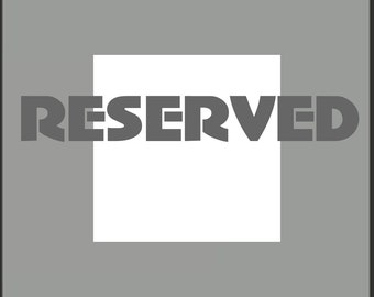 Reserved Listing for Laura RUSH