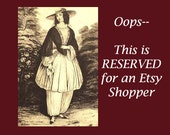 RESERVED FOR JACQUIE - Please Do Not Purchase if You Are Not Jacquie