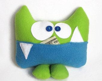 Soft Monster Plush, Funny Plush Monster, Soft Plush Monster, Soft Monster Plushie, Tooth Fairy Chart, Tooth Fairy Pillow, Keepsake pillow