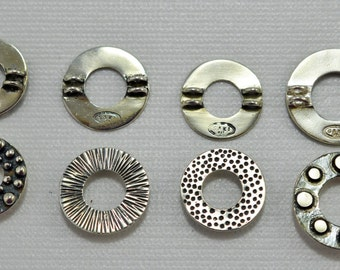 Sterling silver pendants/focal beads - 1 of each style - #1987