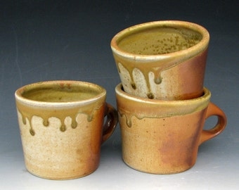 WOOD-FIRED MUGS - Wood-fired Pottery - Wood-fired Cups - Wood-fired Coffee Mugs - Anagama