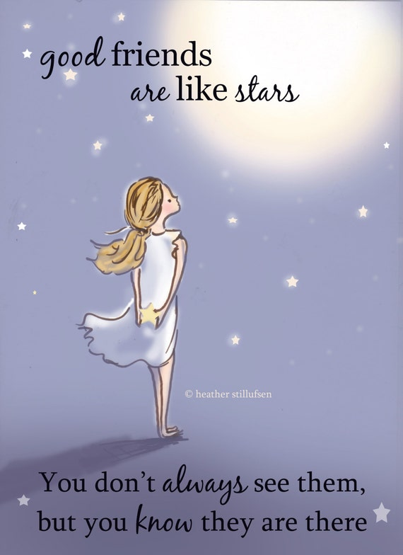 Quotes About Good Friends: Good Friends Are Like Stars.....Miss You Card Friendship