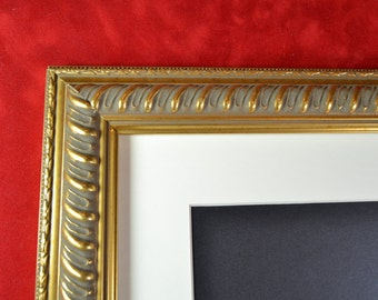 Gold Picture Frame - Gold Embossed Rope Photo Frame - Wood Picture Frame
