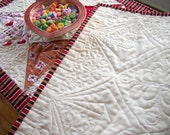 Valentine Love Letters Table Runner Quilted Handmade