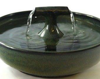 """Cat Water Fountain, Cat fountain, Pet Drinking Fountain  - 10.75 Inch Diameter - """"Night Zen"""""""