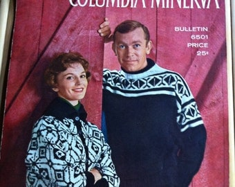 1950s Scandinavian Sweaters Columbia Minerva men women bulletin 6501