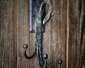 Dragon Coat Hat Hook Antique Gothic Horse Cast Iron Hardware