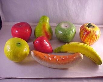 Paper Mache Fruit 8 Pieces For Centerpiece Fruit Bowl