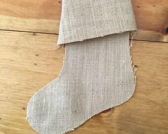 Small Burlap Stocking