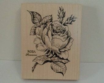 large rose stamp, new