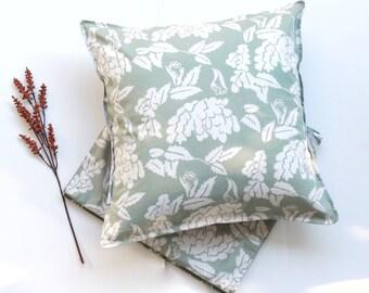 Set of 2 pillow covers and 1 table runner, Indonesian handwritten batik, decorative cushion, home decor, fall, autumn, housewarming gift