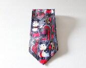 CIJ 40% off sale // Vintage 90s Futuristic Mickey Mouse Rare Silk Neck Tie - Disney by Atlas Design