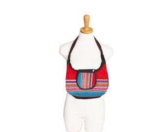 30% off sale // Vitage 80s Mexican Blanket Style Small Purse