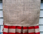 Reserved for Terri, Burlap Table Runner - Double Stripes in red, 14 x 154 inches