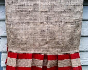 Burlap Table Runner - Double Stripes