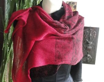 Pure linen poncho. linen wrap,linen sweater,knit poncho,linen cape,women poncho,linen scarf, linen shawl, women sweater, women poncho