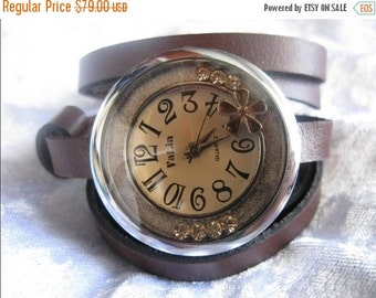 Leather Watch Wrap Watch Leather Accessories - Antique Wrist Watches - Leather Watches -Man Men's Women's Retro Watches- bracelet Cuff Watch