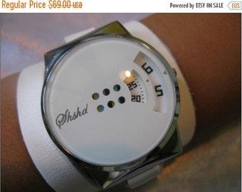 Leather Wrap Watch Silver Bracelet Antique Watch- brown Genuine leather retro Watch- bracelet Cuff Watch- Men's Women's unisex wrist watch