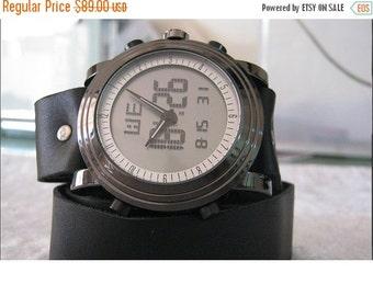 Leather Wrap Watch Bracelet Antique Leather Watch- brown Genuine leather retro Watch- bracelet Cuff Watch- Men's Women's unisex wrist watch