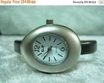 Leather Watch-Women wrist watch-Bracelet wrap Watch Leather Wrap Watch Bracelet Leather Watch-brown Watch-Women's egg oval wrist watch