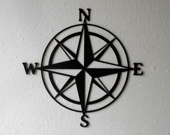 Compass Rose, Nautical , Windrose, Rose of the Winds, Directional Art, Metal Art, Design #2