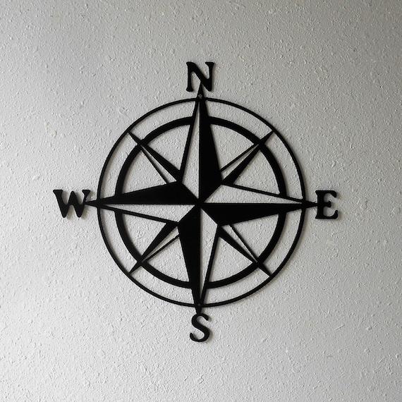 Compass Rose, Nautical , Windrose, Rose of the Winds, Directional Art, Metal Art, Design #2