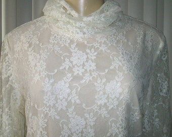 "VINTAGE LACE BLOUSE by ""Hopeless Romantic"" Size 12"