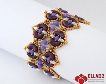 Tutorial Arcos Bracelet-Beading Tutorial with Arcos beads by Ellad2, Instant download, beading pattern