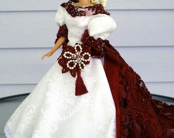 French Provincal dress for Barbie