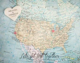 Wedding Guestbook Alternative, Wedding Guest Book, Signing Board, USA Map, Wedding Decoration, Personalized Wedding Gift for Couple, Artwork