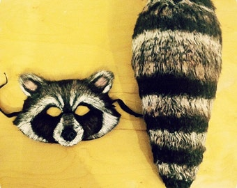 Rocket raccoon mask and tail
