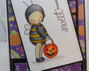 Handmade Card, Greetings, Gift, Fall, Helloween, Occasions, PI, MFT, Pure Innocence, Halloween Bee Trick or Treater