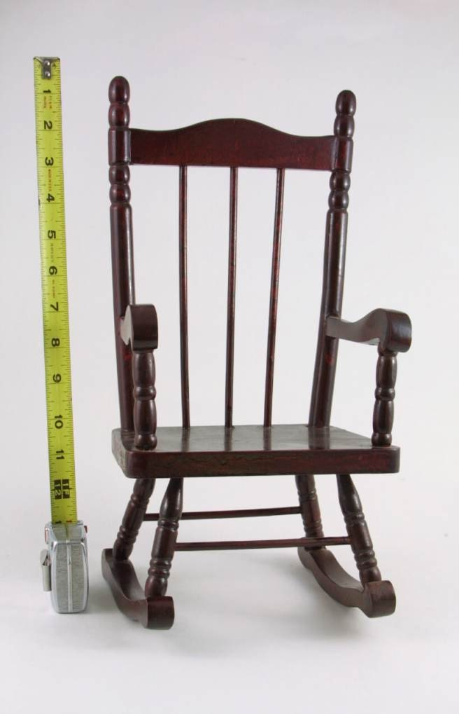 Wooden Rocking Chair For Doll Or Bear