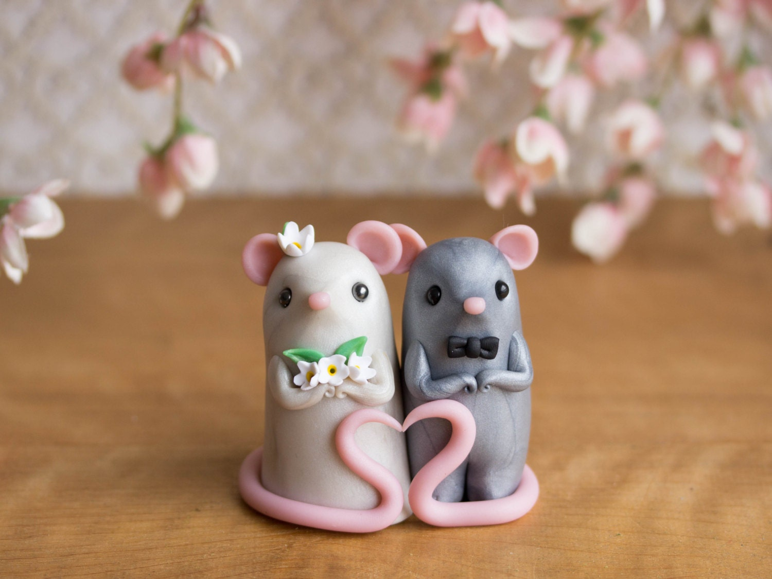 mice wedding cake toppers mouse wedding cake topper by bonjour poupette 17333