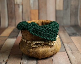 Chunky Pine Green Baby Blanket Newborn Photography Prop