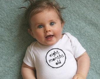 Baby Monthly Milestone Stickers - Mono - Black and White