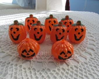 Vintage Halloween String Light Cover Pumpkin Jack-O-Lantern Light Covers Orange