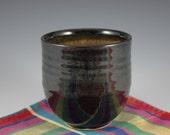 one 10 oz Black Tea Cup  Wheel Thrown Pottery