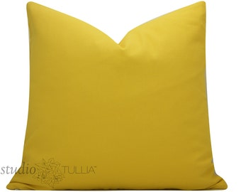 Designer Pillow Cover - Yellow Pillow - 20X20 - sunshine yellow - decorative pillow cover - throw pillow - ready to ship