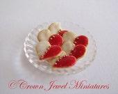 1:12 Valentine's Day Heart Shaped Iced Cookies by IGMA Artisan Robin Brady-Boxwell - Crown Jewel Miniatures